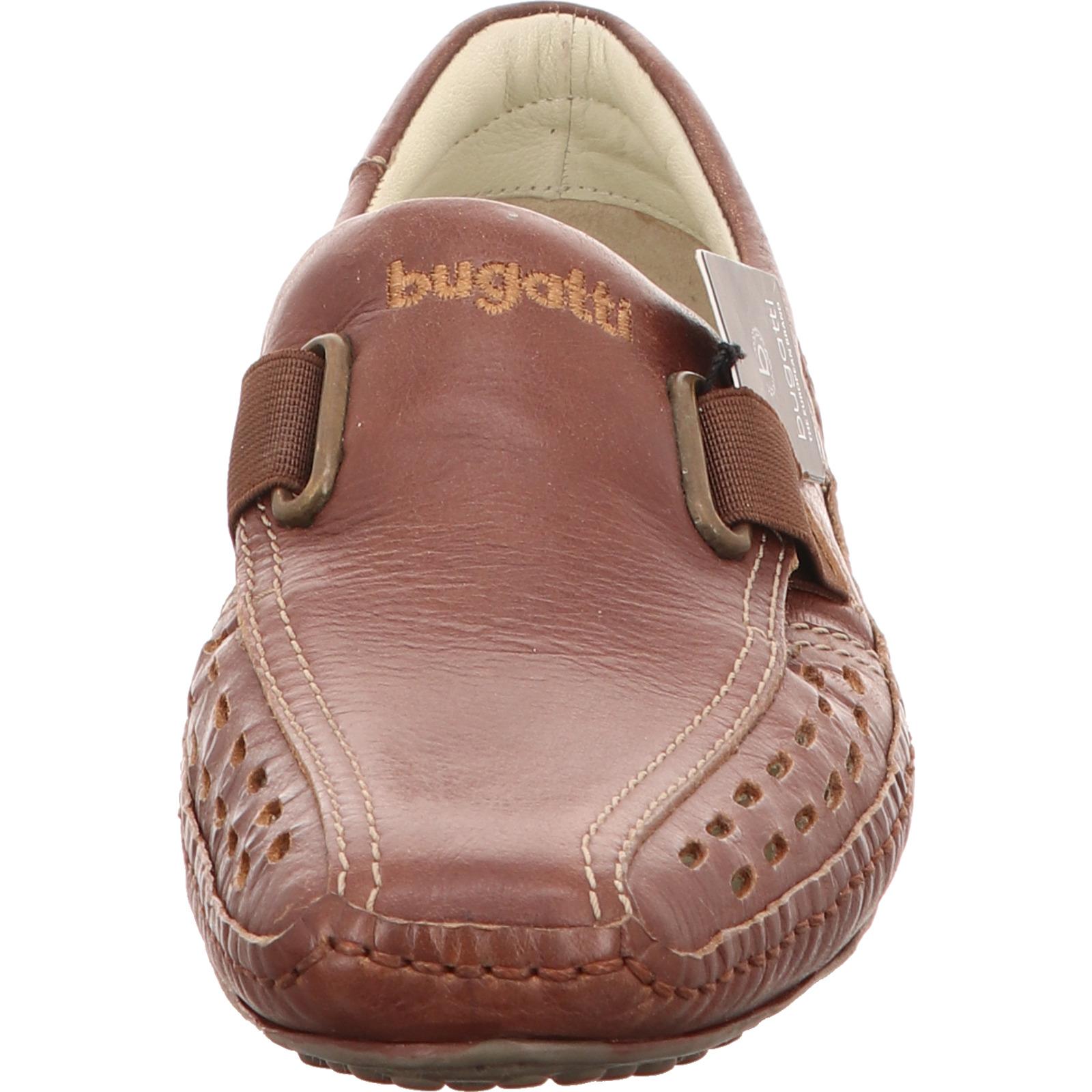 bugatti herren leder slipper schuhe sneaker freizeit braun ebay. Black Bedroom Furniture Sets. Home Design Ideas