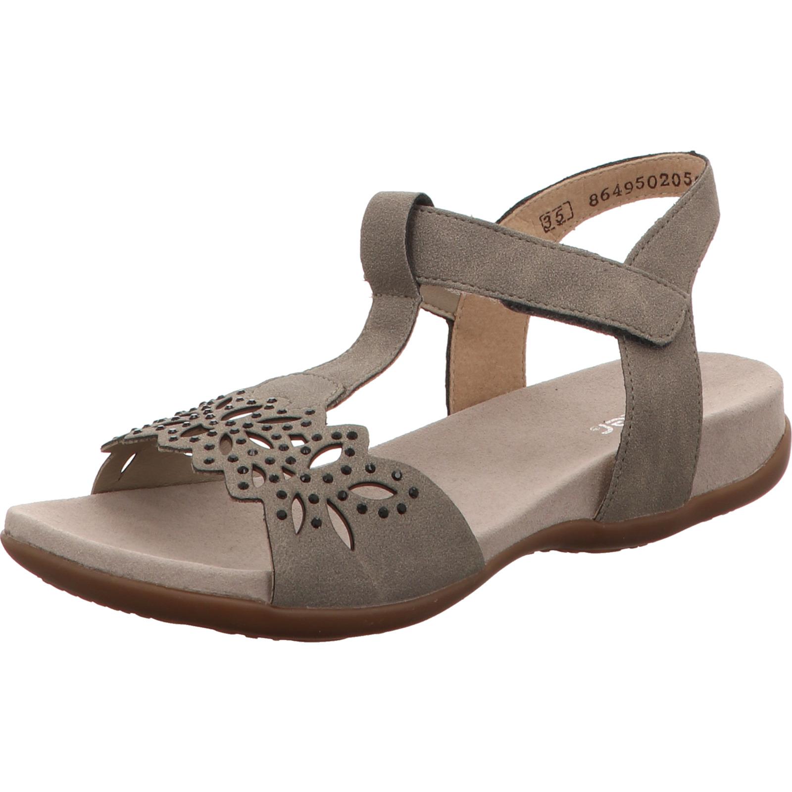 Rieker Mädchen Sandalette grau